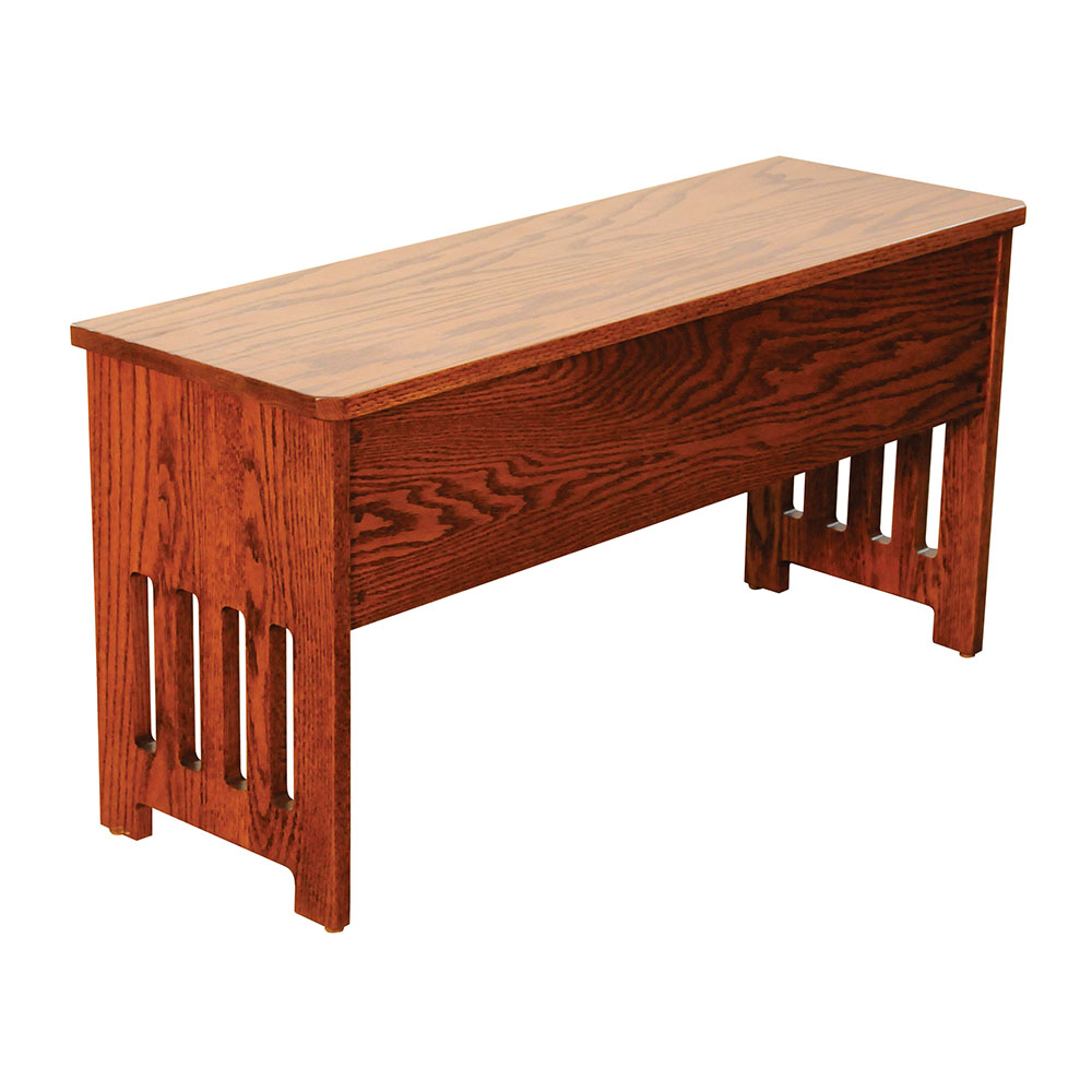 Flip Top Mission Bench This Oak House Handcrafted Furniture