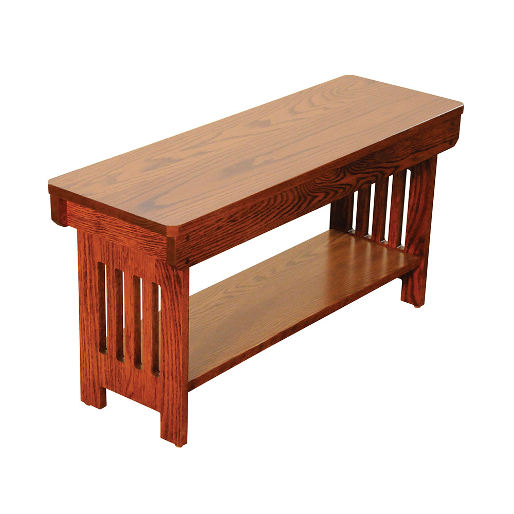 Mission Bench W Shelf This Oak House Handcrafted Furniture