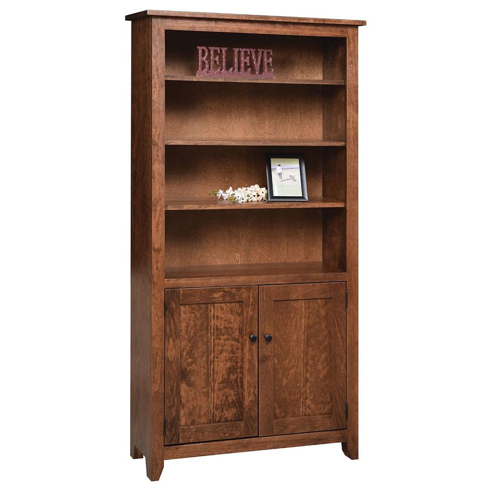 Modern mission bookcase