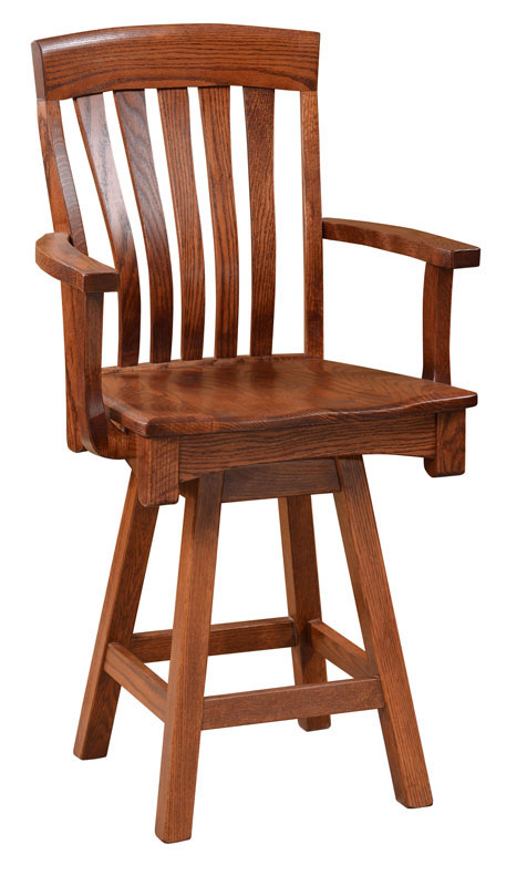 Richland swivel bar chair this oak house handcrafted