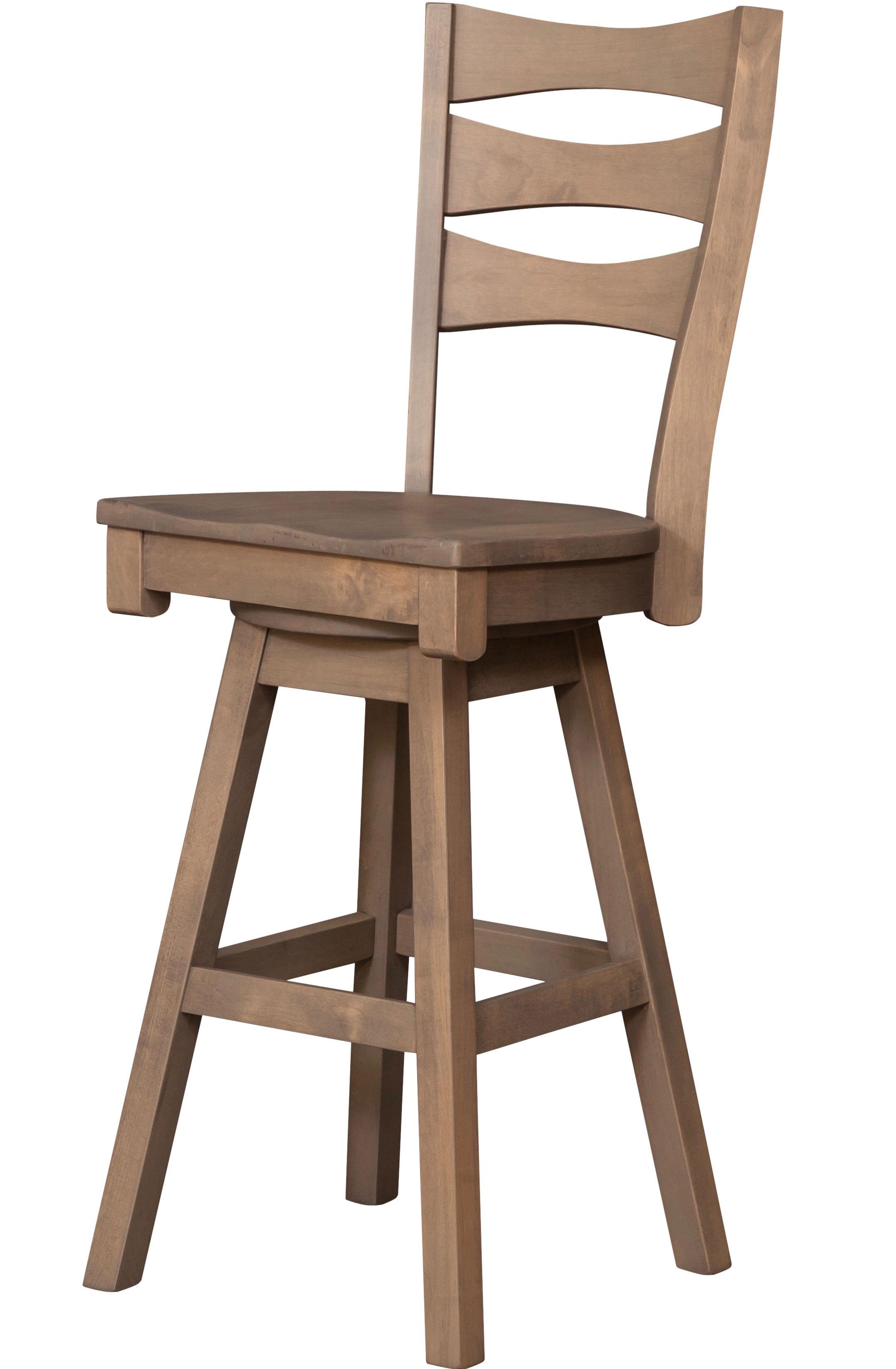 Sierra swivel bar chair this oak house handcrafted